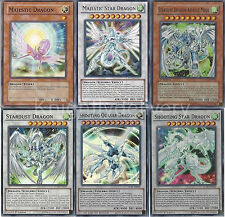 Shooting Star + Shooting Quasar + Stardust Dragon + Majestic Dragon - 6 Cards