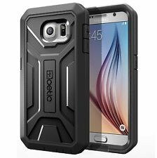 Poetic Revolution Built-In Screen Protector Hybrid Case For Samsung Galaxy S6 BK