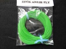 STICK MARSH FLY LINE WF-2-F  WITH EXPOSED LOOP ON LEADER END  DARK GREEN