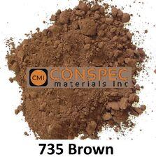 25 lbs BROWN #735 Concrete Curbing Color Pigment Dye Cement Molds Tile Pottery