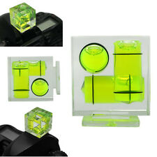 Camera Flash Hot Shoe Spirit Level Triple 3 Axis Bubble For Canon Nikon DSLR DC