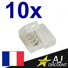 10x Connecteur Droit pour Ruban / Bandeau LED - RGB 5050 strip 4 broches 4 pin