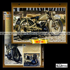 #062.05 Fiche Moto DKW KS 200 1940 WW2 Motorrad Military Motorcycle Card