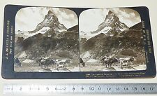 PHOTO STEREOSCOPIQUE 1900-1909 JJ KILLELEA MATTERHORN ZERMATT SUISSE SCHWEIZ