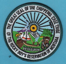 GREAT SEAL CHIPPEWA CREE TRIBE  MONTANA RESERVATION  TRIBAL SHOULDER PATCH