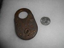 Antique Old Eagle Lock Company Padlock Lock Vintage 1895 No Key