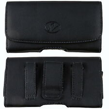 LEATHER POUCH BELT CLIP CASE FOR IPHONE 5 WITH EXTENDED BATTERY MOPHIE ON IT