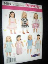 "18"" DOLL 7 Summer Clothes NEW Simplicity 1484 Pattern Morin Fits American Girl"