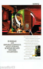 PUBLICITE ADVERTISING 086  1987  Glenfiddich  whisky hommage gentleman-cambriole