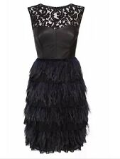BNWT �� Coast  �� Size 8 Izzy Feather / Leather / Lace Evening Dress S RRP £250