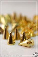 40pz borchie sfuse killer con vite 10*14mm colore oro *40pcs KILLER STUDS gold