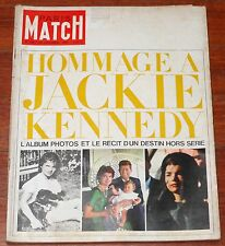 PARIS MATCH #766 1963 JFK Jackie Kennedy vintage magazine