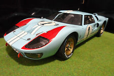 FORD  GT40 MK II SECOND 24H LE MANS 1966 GULF 1/10 EXOTO 10011 voiture miniature