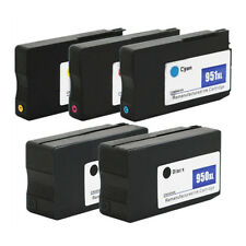 5 Pack 950XL 951XL ink cartridges for HP Officejet Pro 8610 8600 Plus