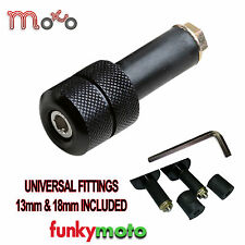 Universal Moto Barends 13mm-18mm Bar End Pesos Par Negro be113