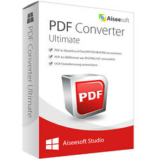 PDF Converter Ultimate WIN Aiseesoft-lebenslange Lizenz Download 39,-statt 69,-