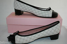 Pretty Ballerinas ~ quilted leather BNWT black & white Eur 40.5