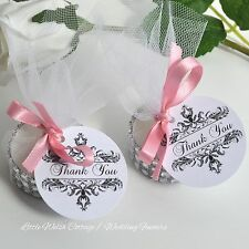 10 THANK YOU FAVOURS CANDLES with TAGS WEDDING UNNIVERSARY HEN DO PARTY