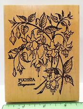 PSX FUCHSIA Botanical Rubber Stamp Flowers plants K-1189