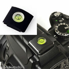 Universal Hot Shoe Bubble Spirit Level Cover Protector DSLR Camera Canon Nikon