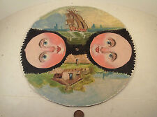 """Original 1950's-vintage (Hand-Painted) """"CLOCK ~ MOON PHASES"""" Face ~ Dial!"""