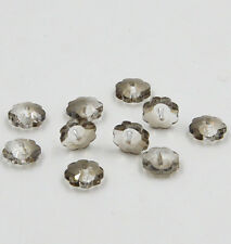 12pieces Swarovski 10mm Middle hole Plum Blossom Crystal bead B Gray