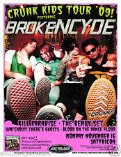 "BROKENCYDE/KILL PARADISE/READY SET ""CRUNK KIDS TOUR '09"" PORTLAND CONCERT POSTER"