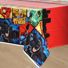 JUSTICE LEAGUE PLASTIC TABLE COVER ~ Birthday Party Supplies Batman Superman