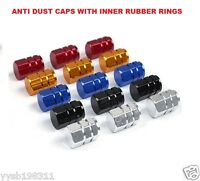 *Car/Motorcycle/Bike* Wheel Tyre Valve Dust Cover Caps with Inner Rubber Rings