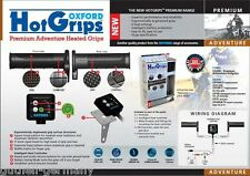 Oxford Heizgriffe für Reise-Enduro elektronisches 5-Stufen System Hot-Grips