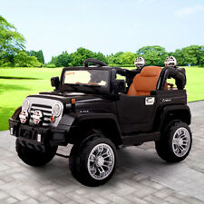 Jeep style Kids Ride On Truck Jeep Car RC Remote Control w/ LED Lights MP3 Music