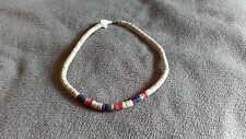 Gay Pride Natural and Rainbow puka shell  Necklace LGBT Pride Flag