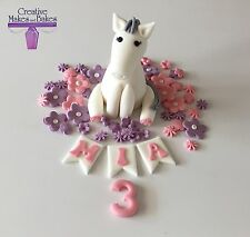 Pony Horse Edible Sugar Fondant Party Cake Topper Birthday