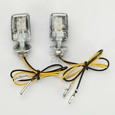 2x Mini LED Turn Signal Amber Lights For Yamaha YZF R1 R6 S 750 1000 XJR1300