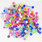 100pc uv  Tongue Rings Barbells assorted 100 Mixed 14g 5/8