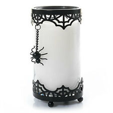 YANKEE CANDLE HALLOWEEN GOTHIC SPIDER ON SPIDERWEB PILLAR CANDLE HOLDER CUFF SET