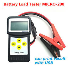 New MICRO-200 12V Digital Car Battery Load Tester Analyzer with USB for printing