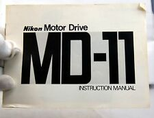 Nikon MD-11 Motor Drive   Instruction Manual Guide Genuine 18 pages 1978