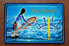 """SIMPLY THE WORLD'S COOLEST SURF FORECAST GAUGE SIGN! 8""""X12"""" METAL MADE IN HAWAII"""