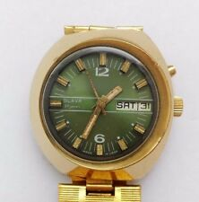 OBLIQUE SLAVA  VINTAGE USSR WATCH SOVIET-RARE 27 JEWELS AU