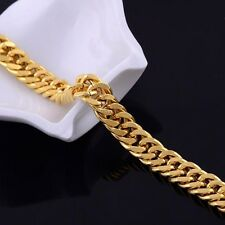 Unisex 18K Gold Filled Father's Day Mens Womens Bracelet  Bangle Hand Chain BT8