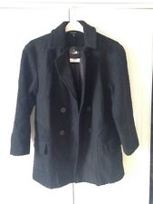 Brand New Topshop Oversized Black Coat Size 10