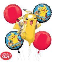 Pokemon Pikachu Balloon Bouquet  5pk Helium Balloon Bouquet Display