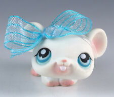 Littlest Pet Shop Mouse #41 White With Blue Eyes Pink Feet