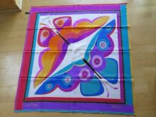 LAUREL BURCH Summer Butterfly large square Silk Scarf Vibrant Colors