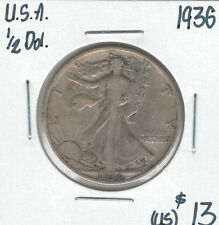 United States USA 1936 Silver 50 Cents Walking Liberty