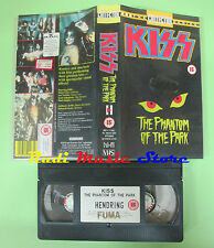 VHS KISS The phantom of the park THE COLLECTOR SERIES 96 minuti no cd mc (VM3)