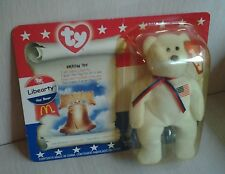 Ty Teanie Beanie Liberty Bear Sealed Amerian Trio Collection McDonald's