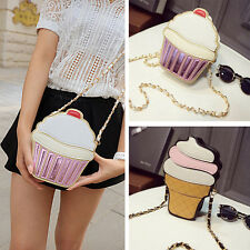 The NewWomen's Summer Lace Special Shoulder Bag Messenger Bag Ice Cream Cupcakes