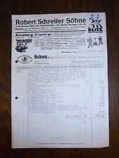 alte Rechnung Robert Schreiter Söhne Annaberg 1944 A4